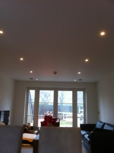 Verlichting woonkamer woonhuis Nieuw Vennep